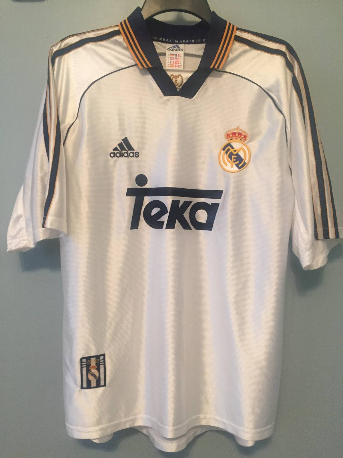detailed look 98871 3ff5e Adidas Real Madrid Teka Jersey Size M $36