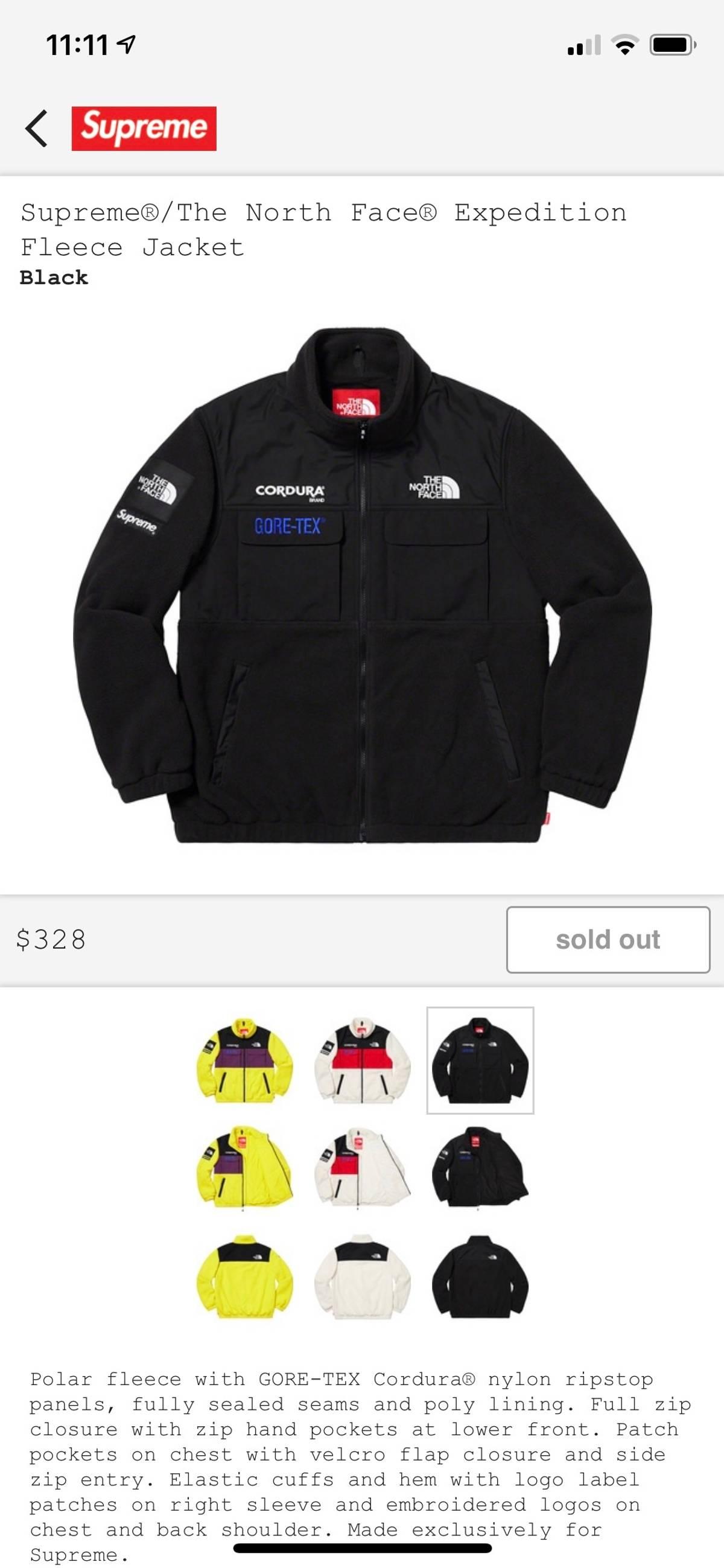 Supreme Supreme X The North face Expedition Fleece Jacket Black Size m -  Light Jackets for Sale - Grailed 4e1ee5ebb