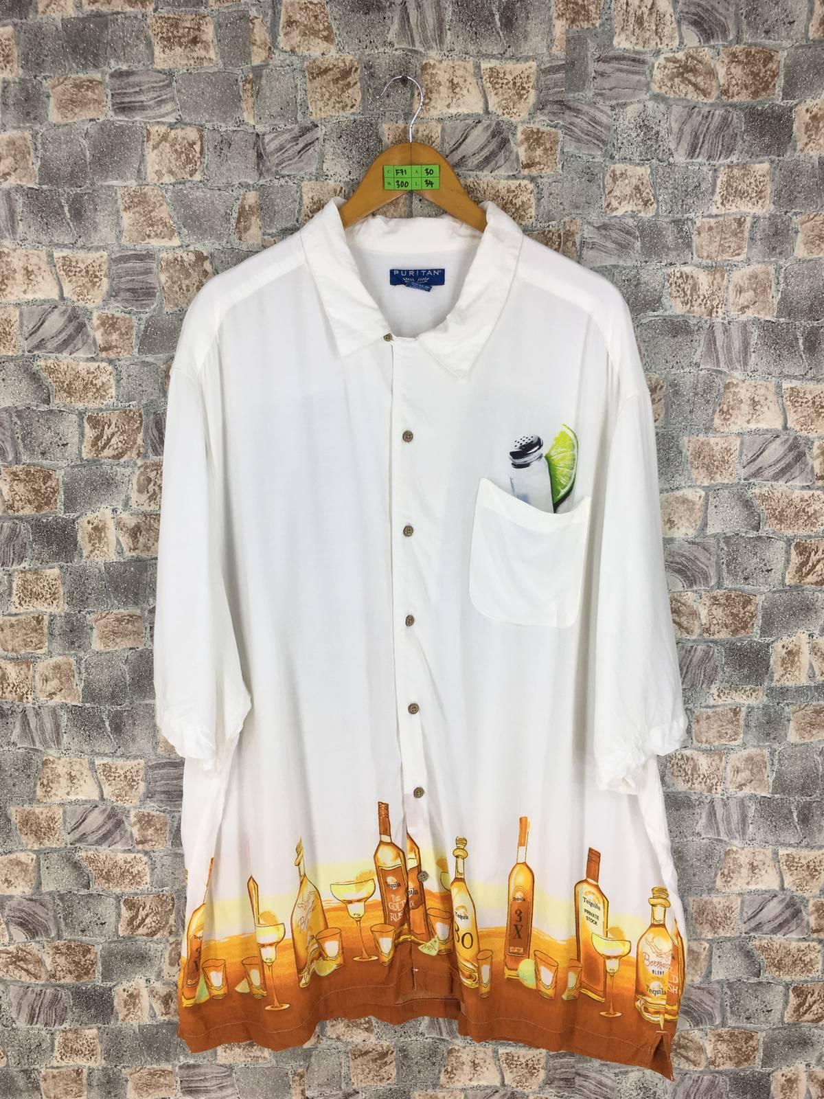 Puritan Puritan Hawaiian Rayon Shirt Oversize Abstract Tequila