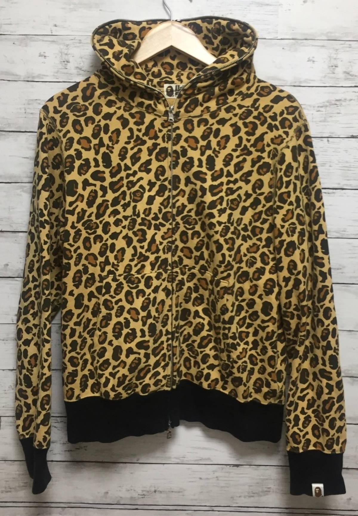 5478a034dab12 Bape Bape Leopard Camo Print Full Zip Hoodie | Grailed