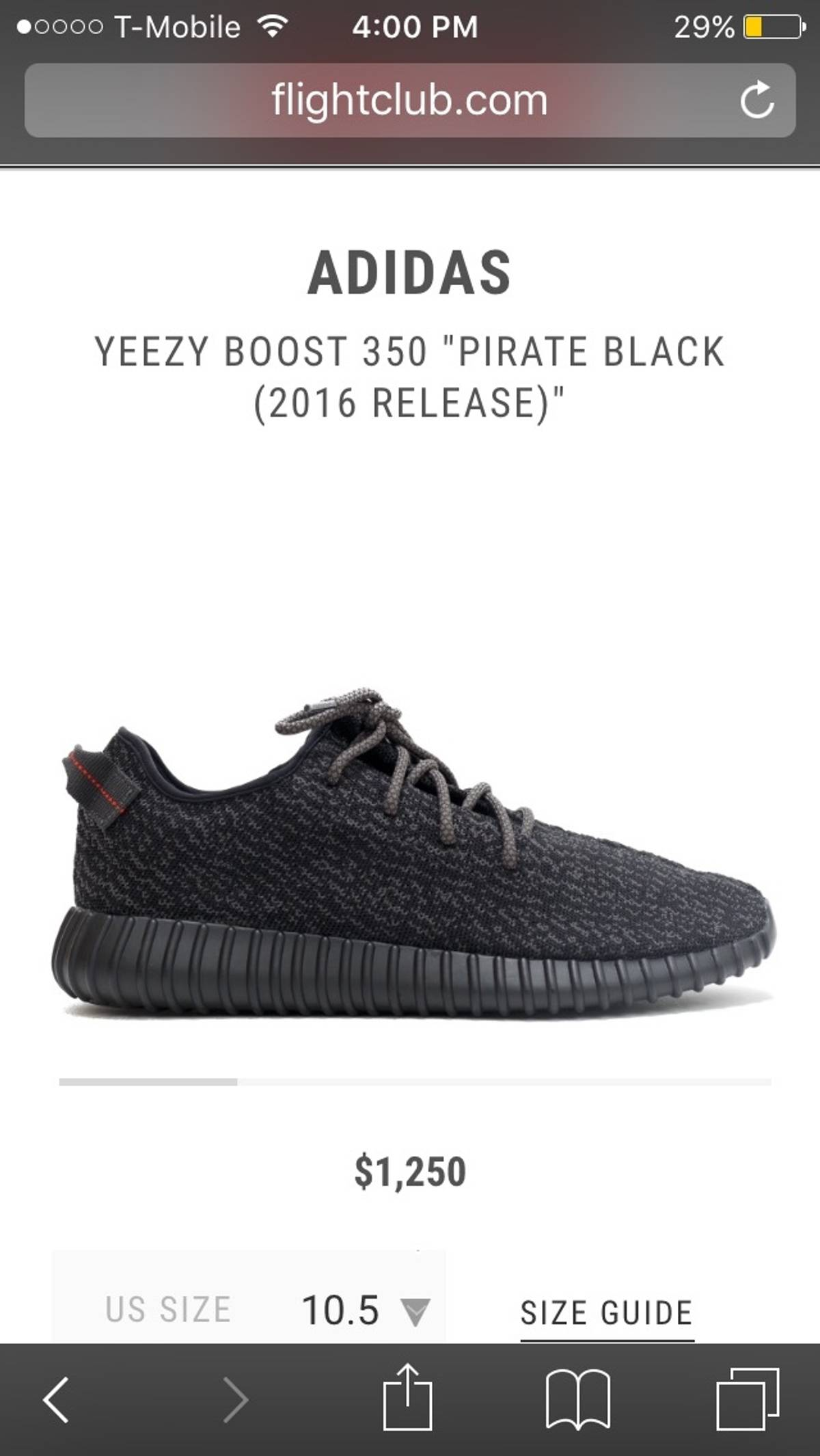 77d9dc7e22c9a Yeezy Boost Pirate Blacks 350 Size 10 - Low-Top Sneakers for Sale - Grailed