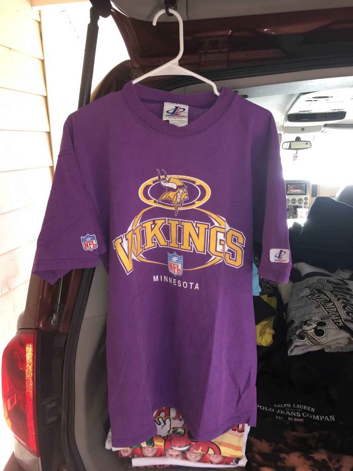 Logo Athletic Vintage Minnesota Vikings Shirt Size Xl Short Sleeve