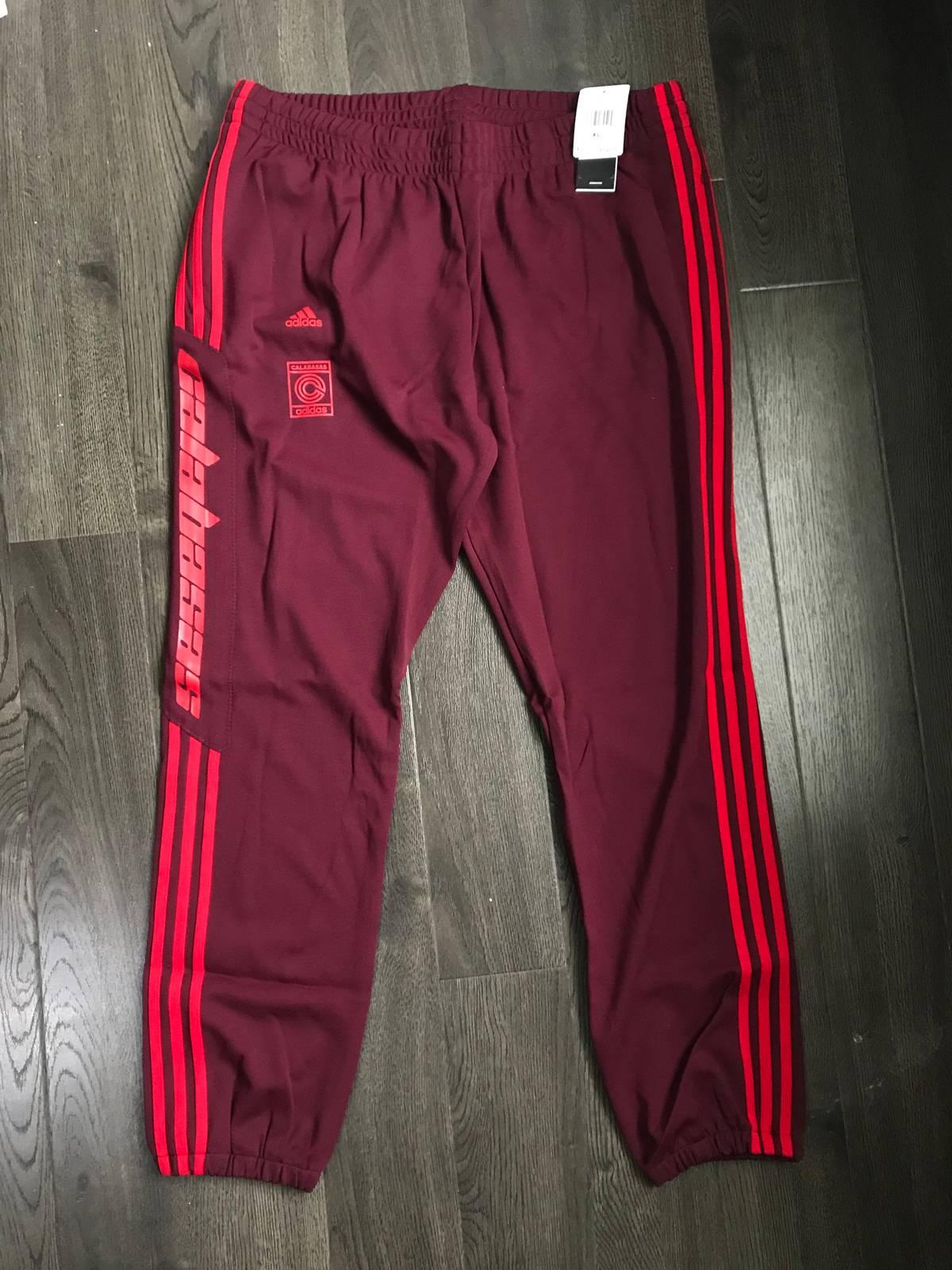 Adidas Adidas Yeezy Calabasas Track Pant Sweatpants Maroon Scarlet Kanye West Sweats Size L Large Size 34 $155