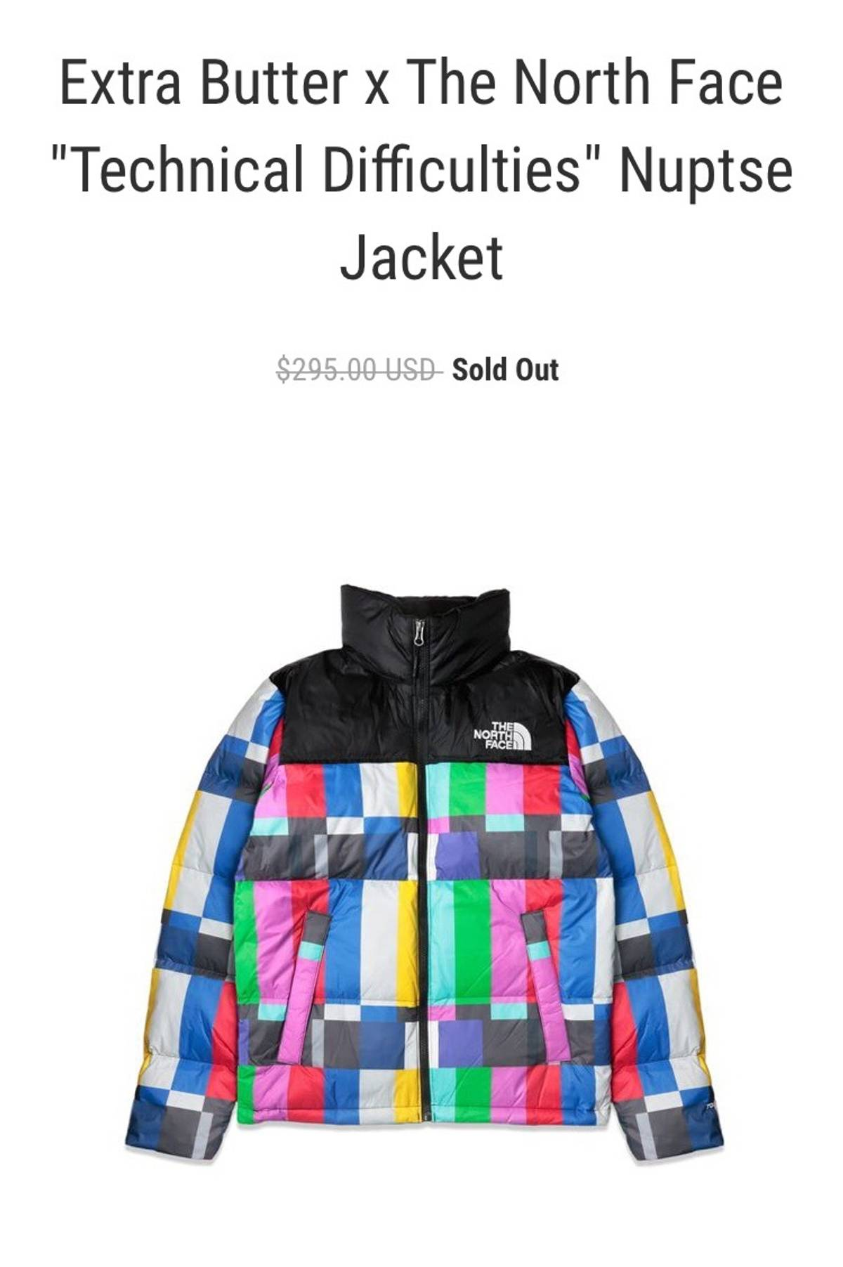 """The North Face North Face x Extra Butter """"Technical Difficulties"""" Nuptse  Jacket Size xs - Parkas for Sale - Grailed 4acb5c657"""