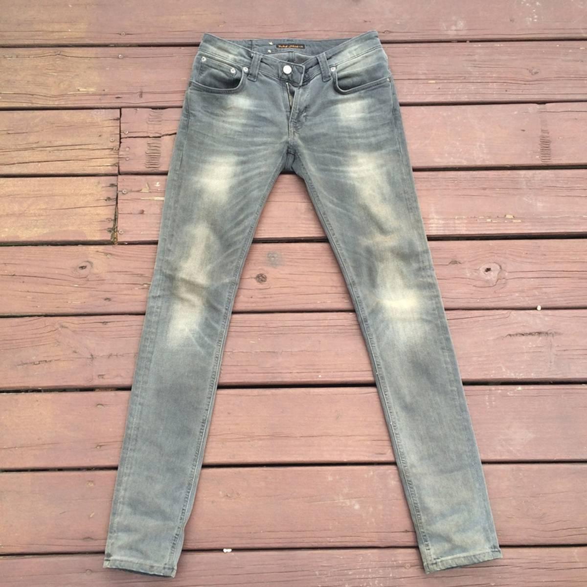 nudie jeans nudie skinny lin back to grey size 29 for sale grailed. Black Bedroom Furniture Sets. Home Design Ideas