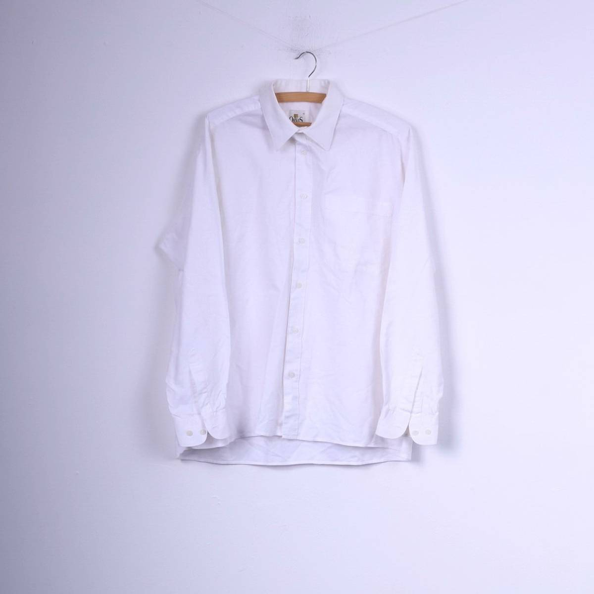 Orvis Orvis Mens 41 2xl Casual Shirt White Cotton Top Long Sleeve
