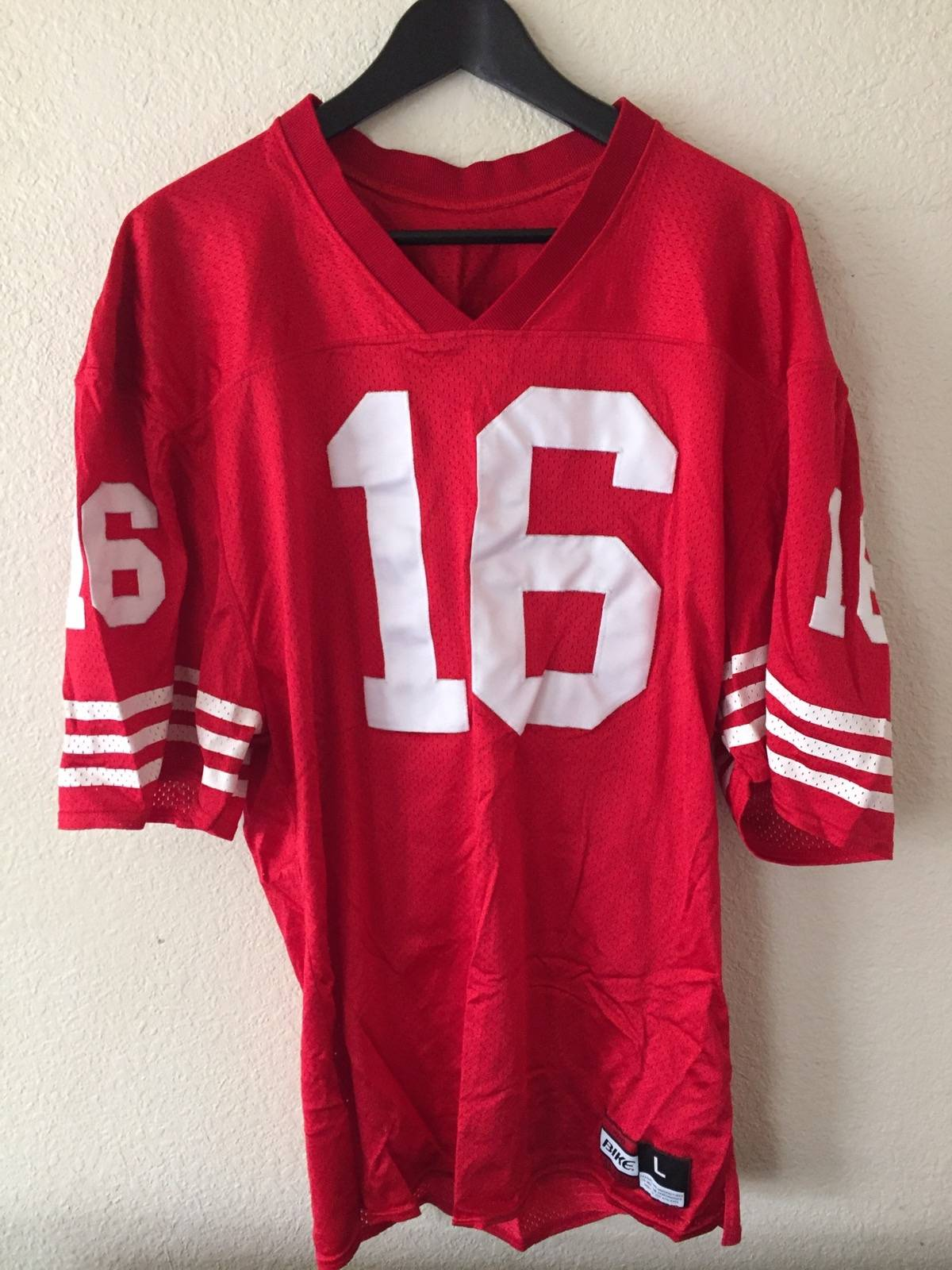 huge discount dee5a 16961 Jersey Joe Montana 49ers Throwback Jersey Size L $54