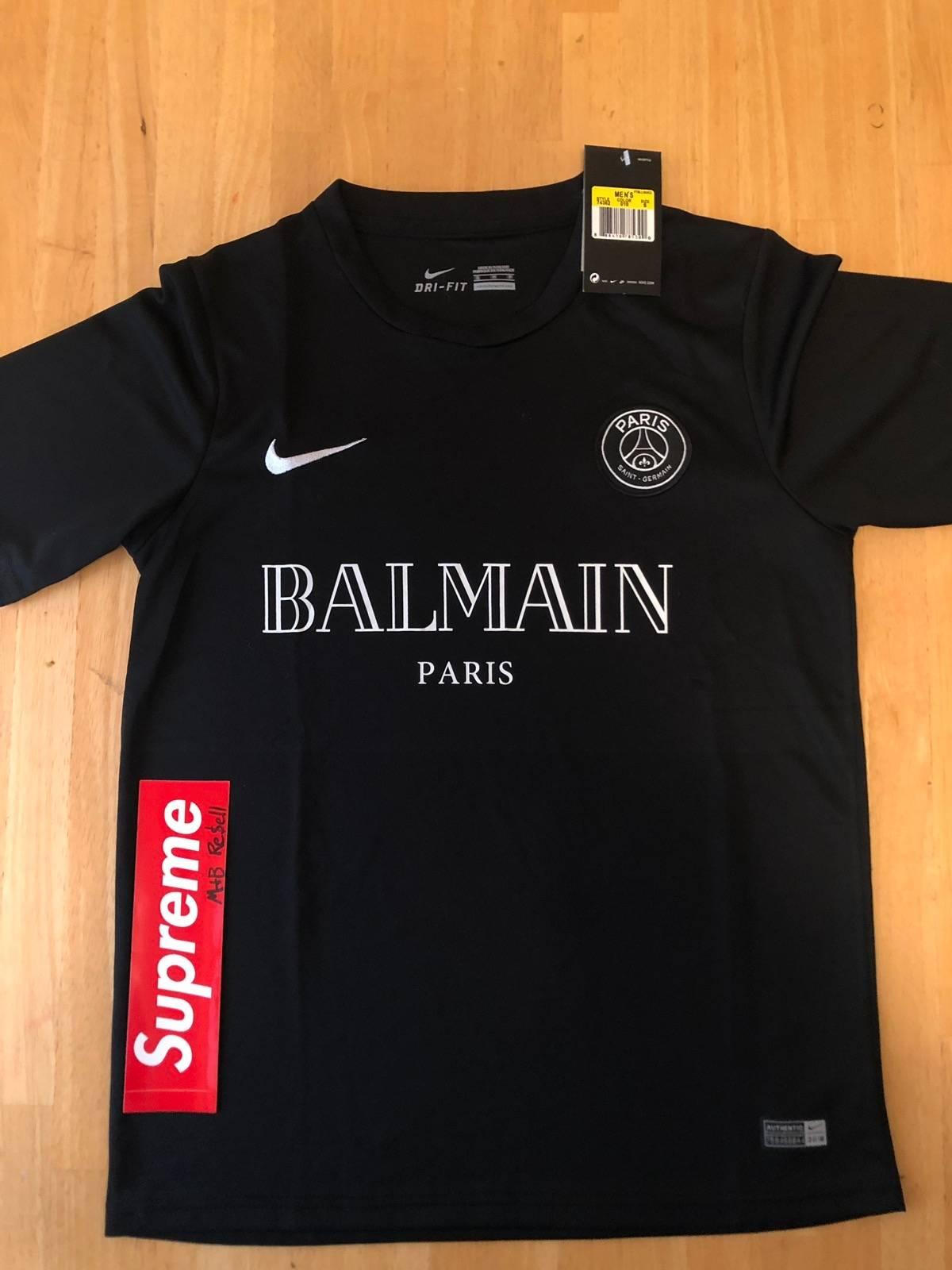 d5ba4ef5b Balmain Nike Paris Saint Germain x Balmain Jersey Size s - Short Sleeve  T-Shirts for Sale - Grailed