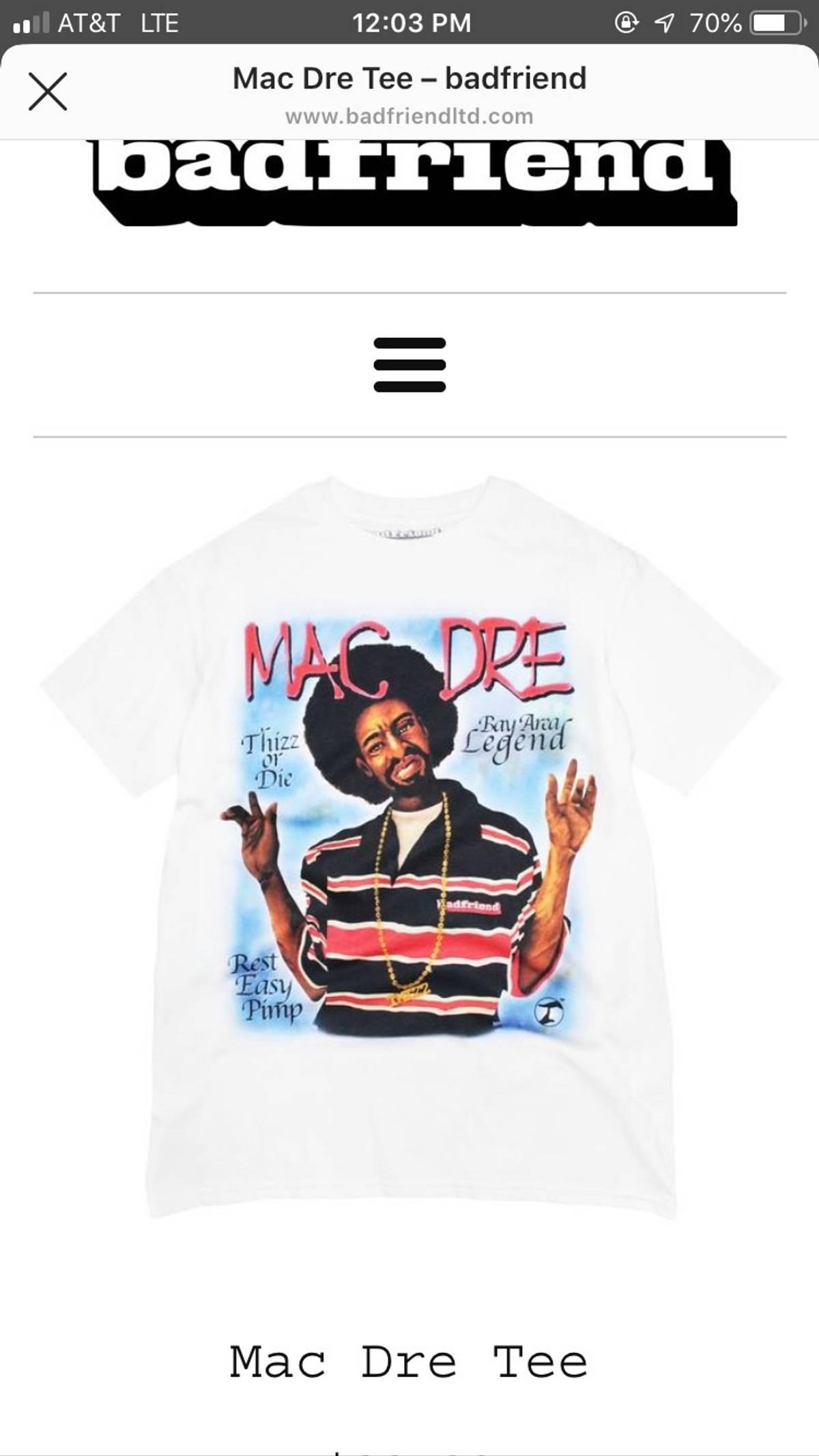 Fuck The Population Mac Dre Tee Size L $108