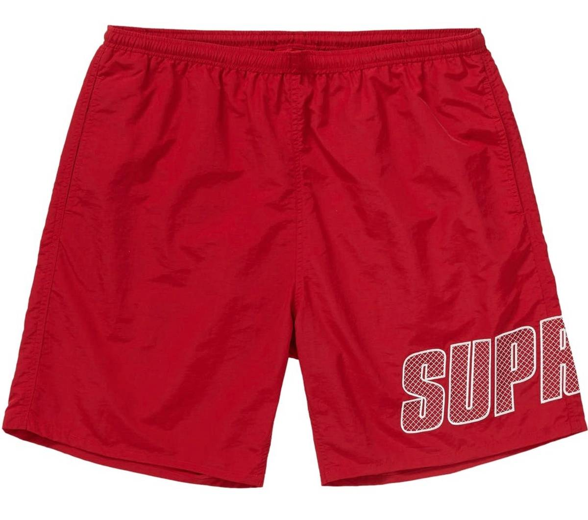 Supreme Supreme Logo Appliqué Water Short Swim Trunks Red | Grailed