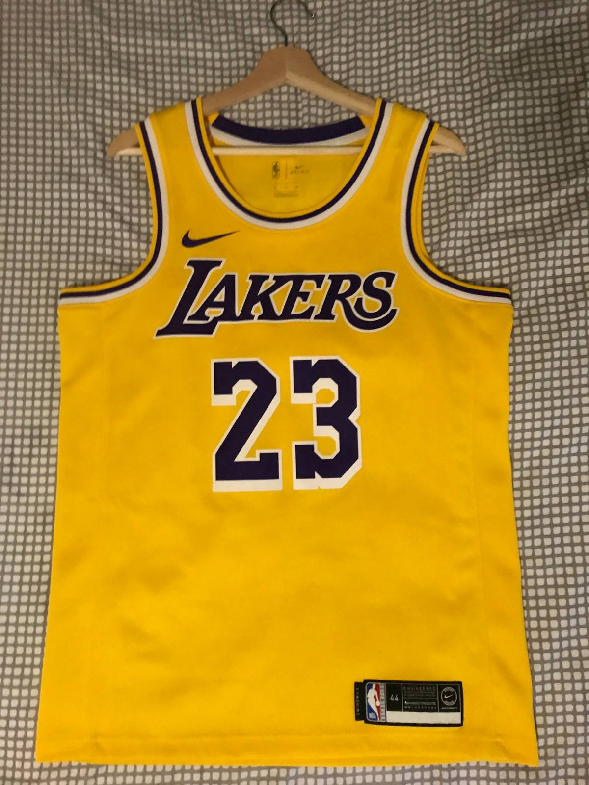 low priced ab314 a9049 Nba × Nike Nike Lebron James Jersey Lakers Size M $85