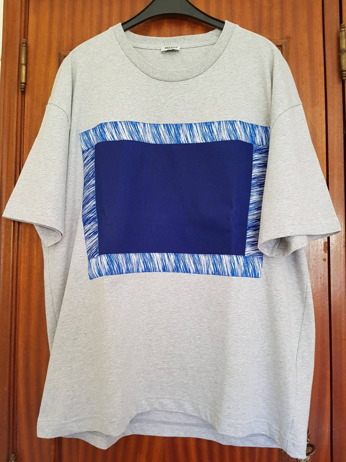 71572e87407f Kenzo Kenzo Wave Embroidered Blue/grey T-shirt | Grailed