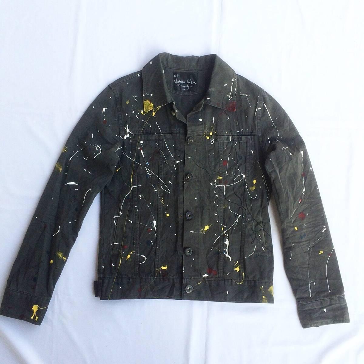 f1cd9a995f2a Number (n)ine Vintage Number (n)ine Jeans Jacket Custom Painted ...