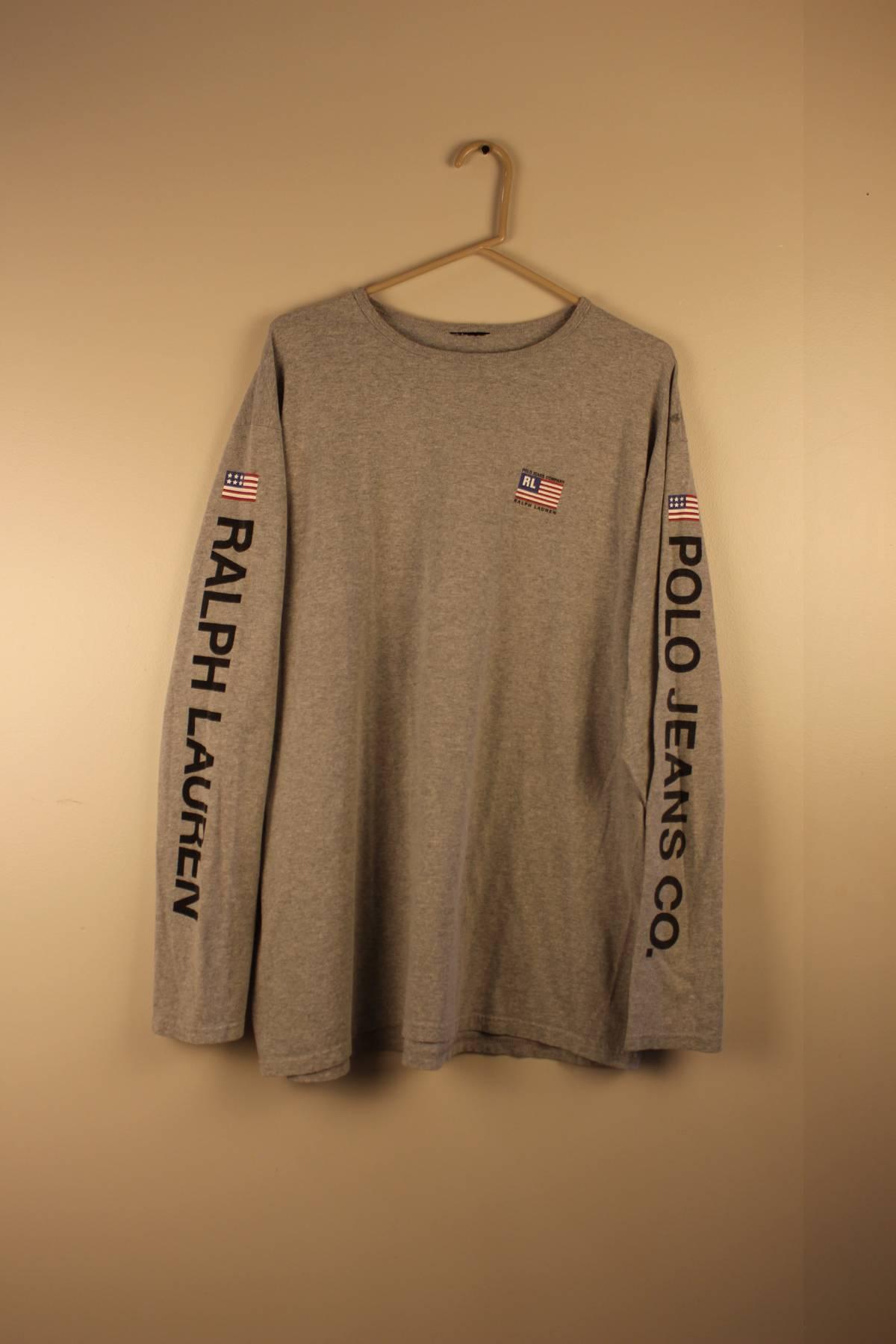 7e420a26d Polo Ralph Lauren ×. Vintage Ralph Lauren Polo Sport Grey Long-sleeve ...