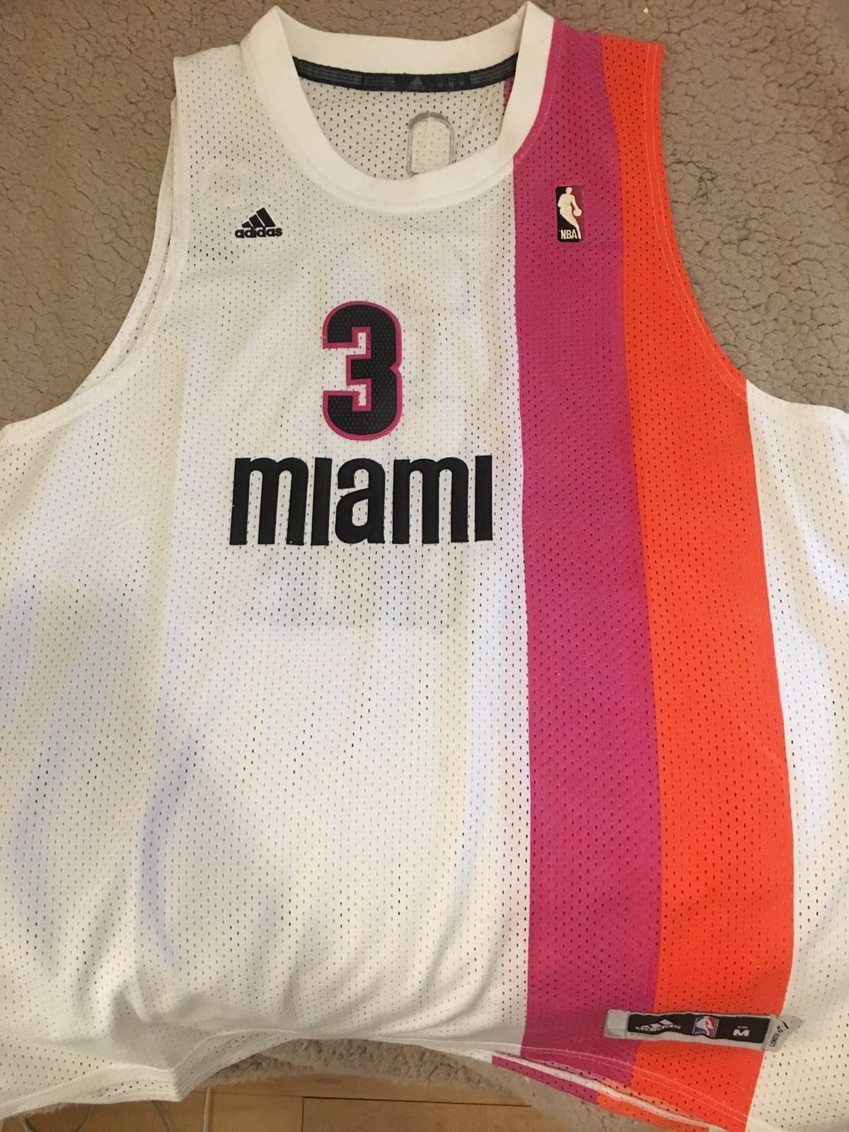 best service 37e68 71c4f Adidas Miami Heat Dwyane Wade Jersey Size M $56