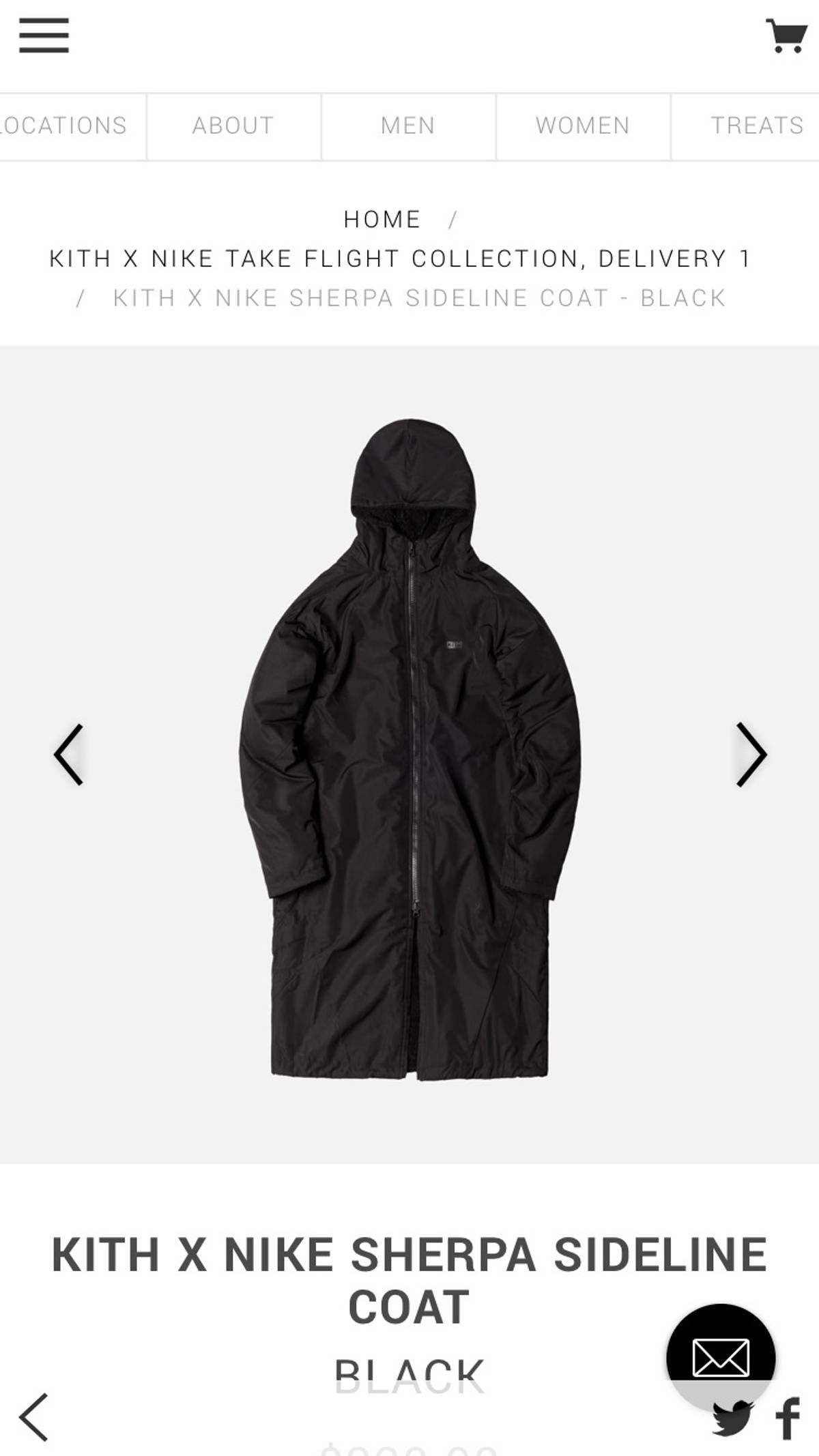 f98586d83 Kith Nyc Kith X Nike Sherpa Sideline Coat Size L $283
