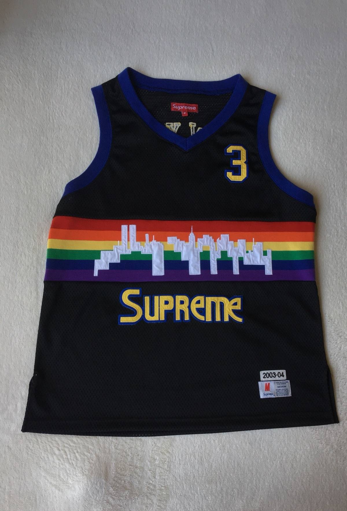 Supreme Supreme Denver Nuggets Skyline Jersey Size m - Tank Tops    Sleeveless for Sale - Grailed 57ba4a8c8