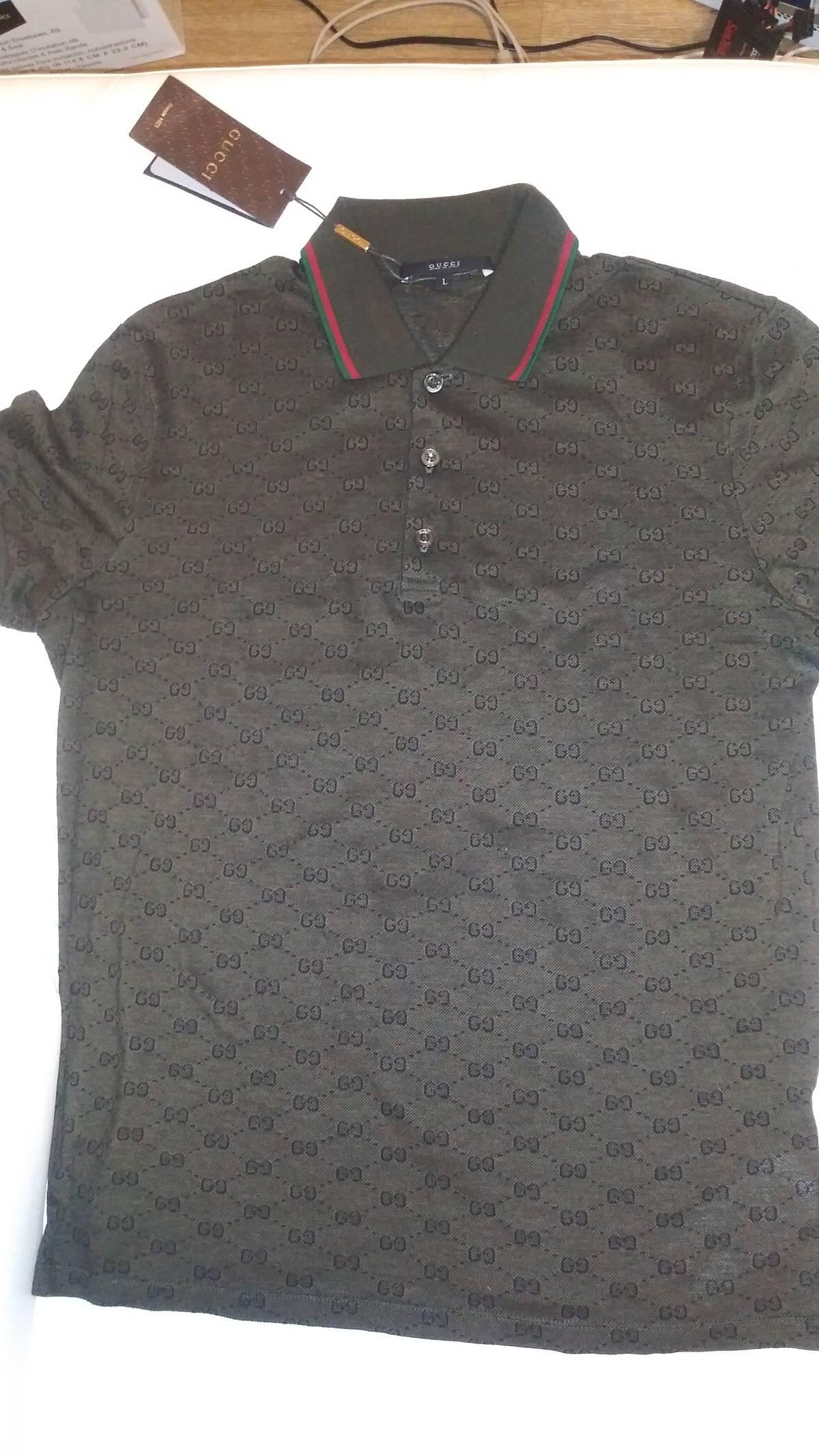 925a14407 Gucci Gucci Military Green Gg Jacquard Polo Shirt Nwt | Grailed