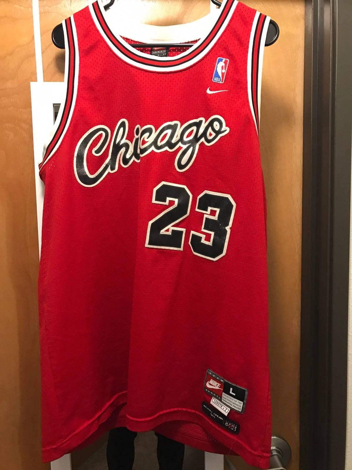 online store b000b b915a Nba × Nike Nba Michael Jordan Rookie Jersey Size L $50