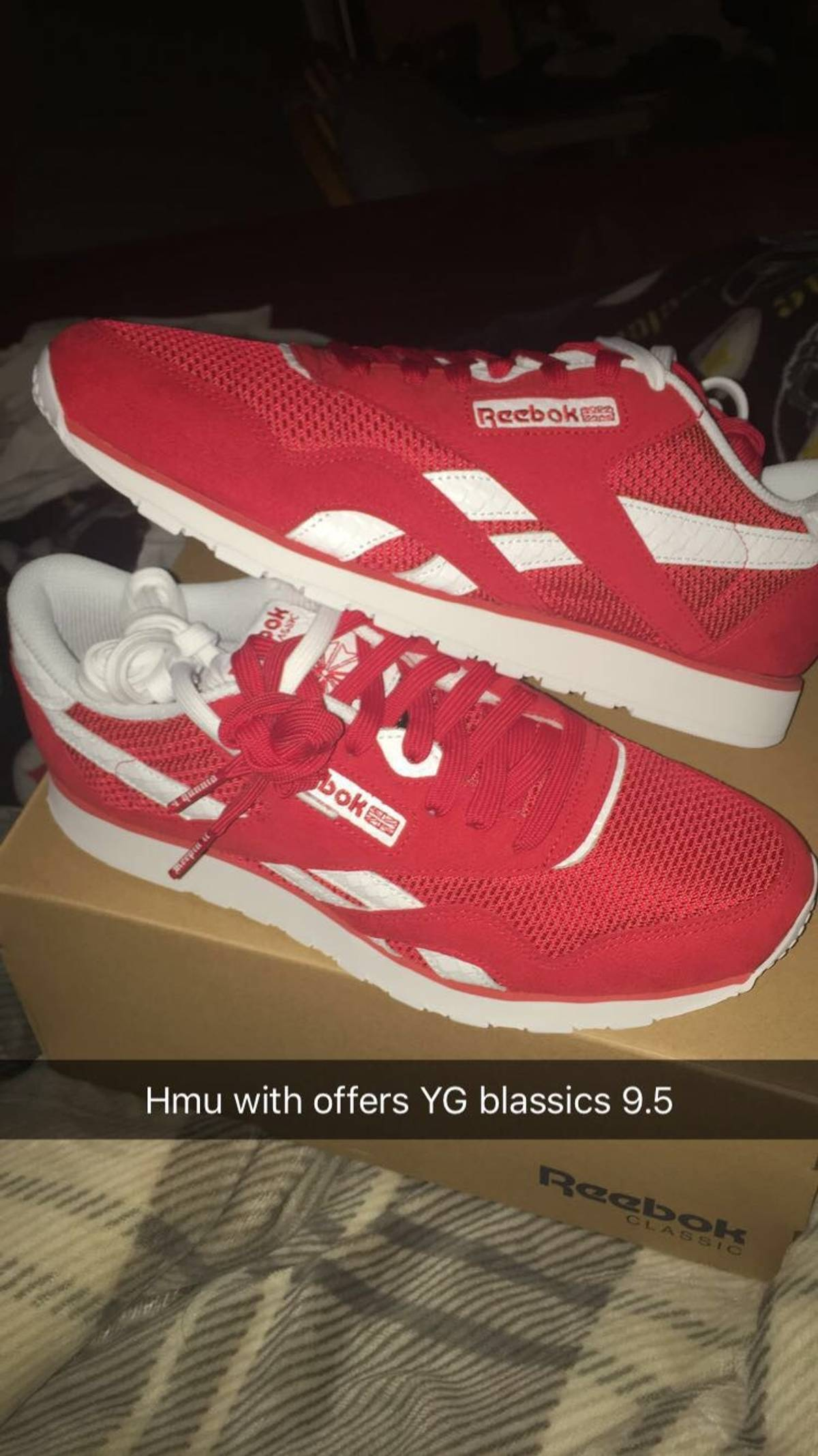 Reebok Yg Classics 4 Hunnid Size 9 5 $195
