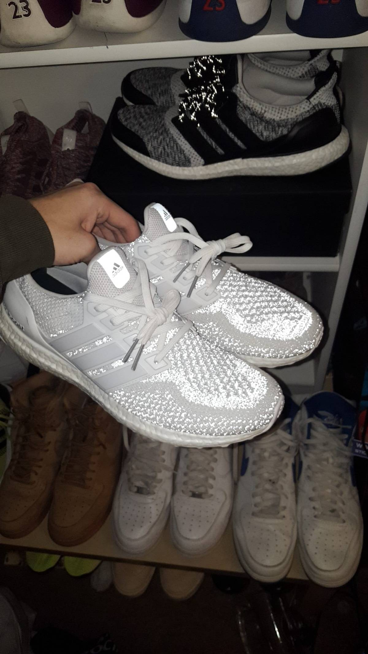 new style eed31 352a8 Adidas Adidas Ultra Boost 2.0 White Reflective Size 11.5 $202