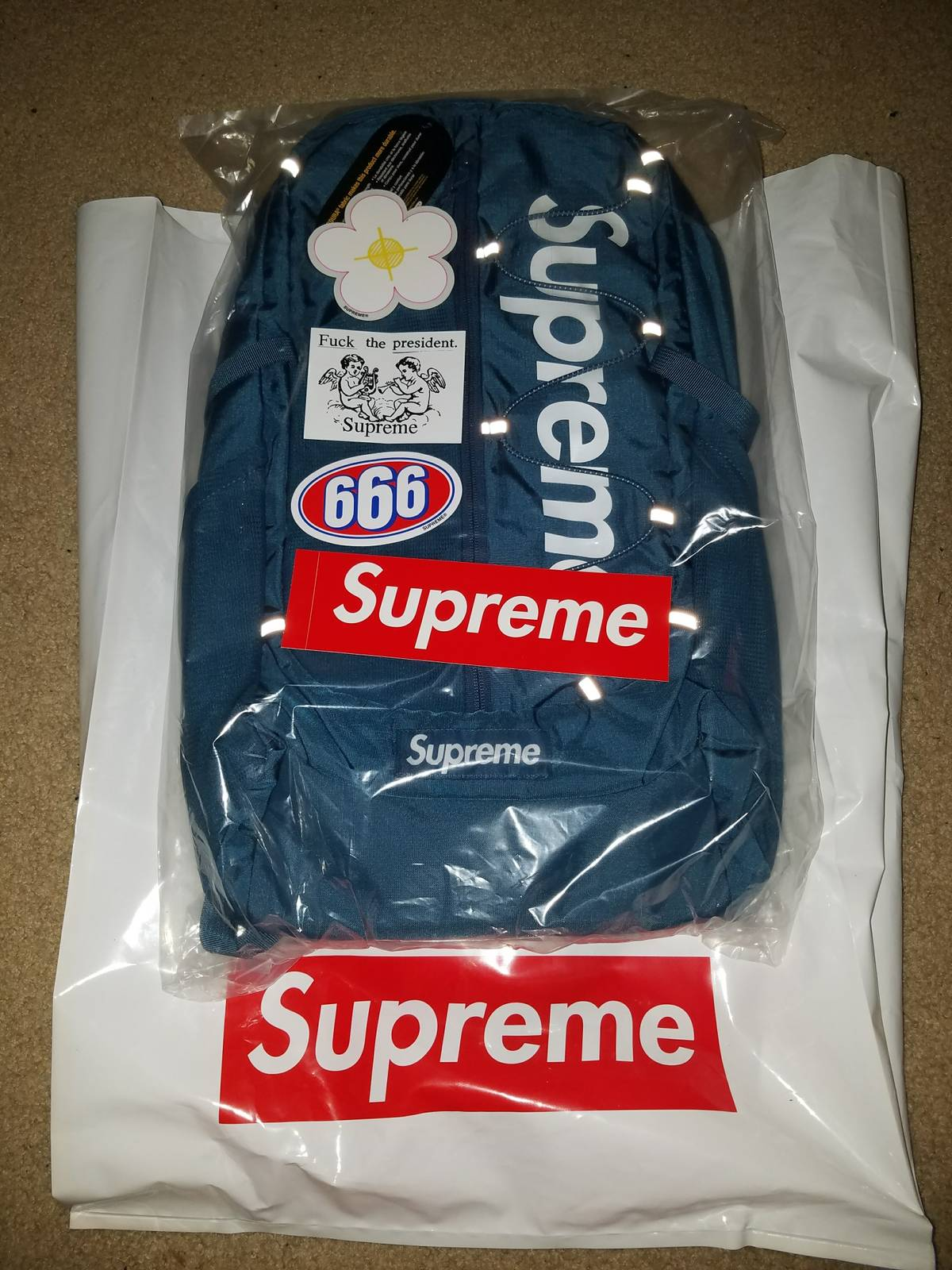 supreme supreme ss17 backpack teal  blue size one size - bags  u0026 luggage for sale