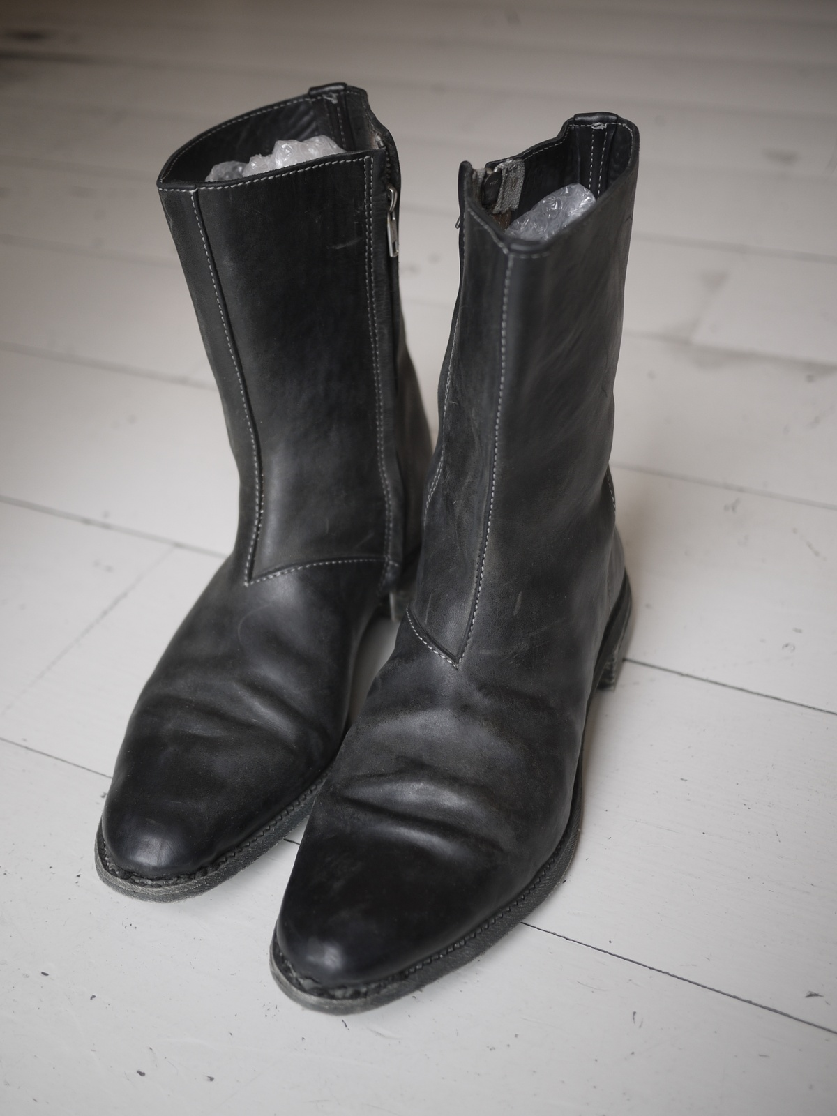Carol Christian Poell Ccp Zipper Boots With Rubber Sole