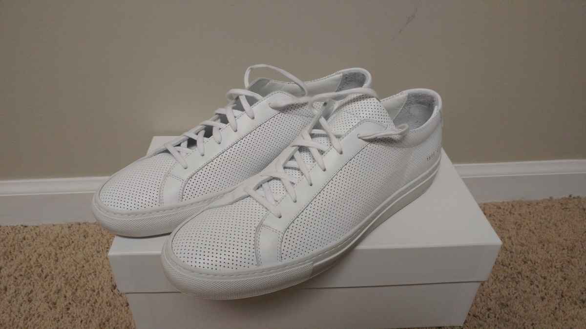 common projects achilles low perforated white size 10 low top sneakers for sale grailed. Black Bedroom Furniture Sets. Home Design Ideas