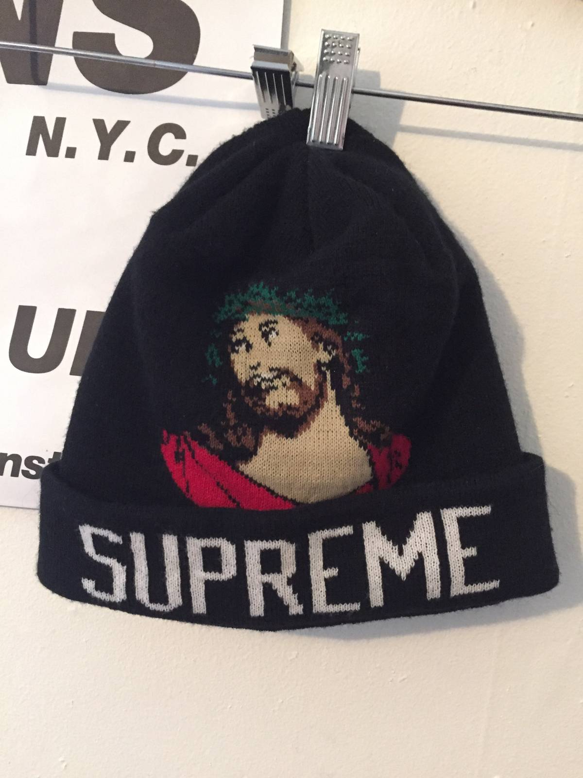 377589977f9 Supreme INRI beanie Size one size - Hats for Sale - Grailed