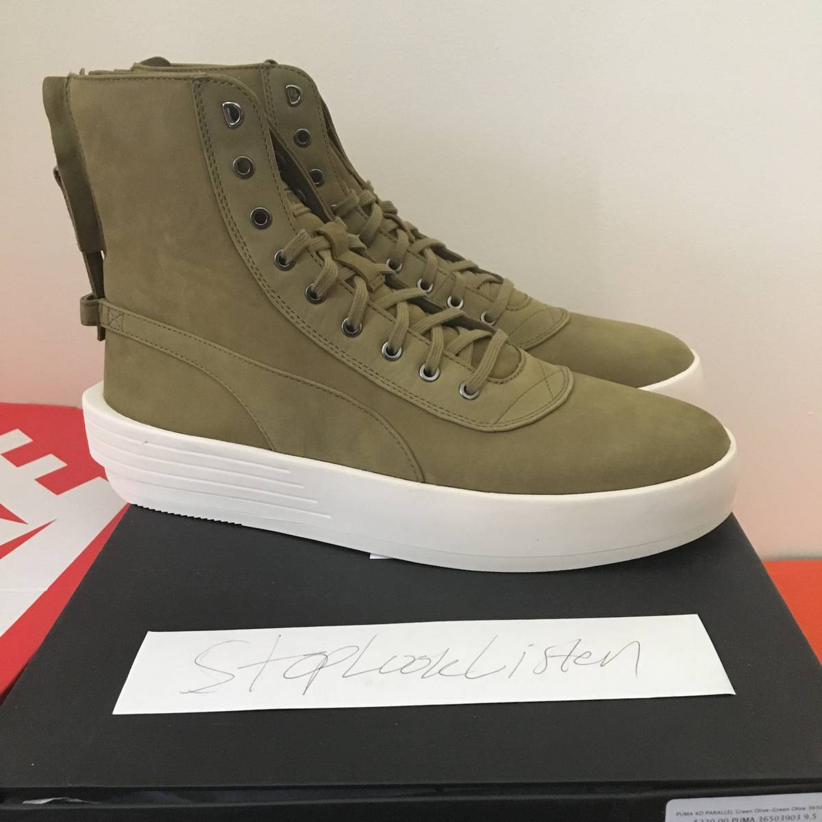 64adeee7546 Puma PUMA X THE WEEKND XO PARALLEL OLIVE GREEN SIZE 9.5 US Size 9.5 -  Hi-Top Sneakers for Sale - Grailed