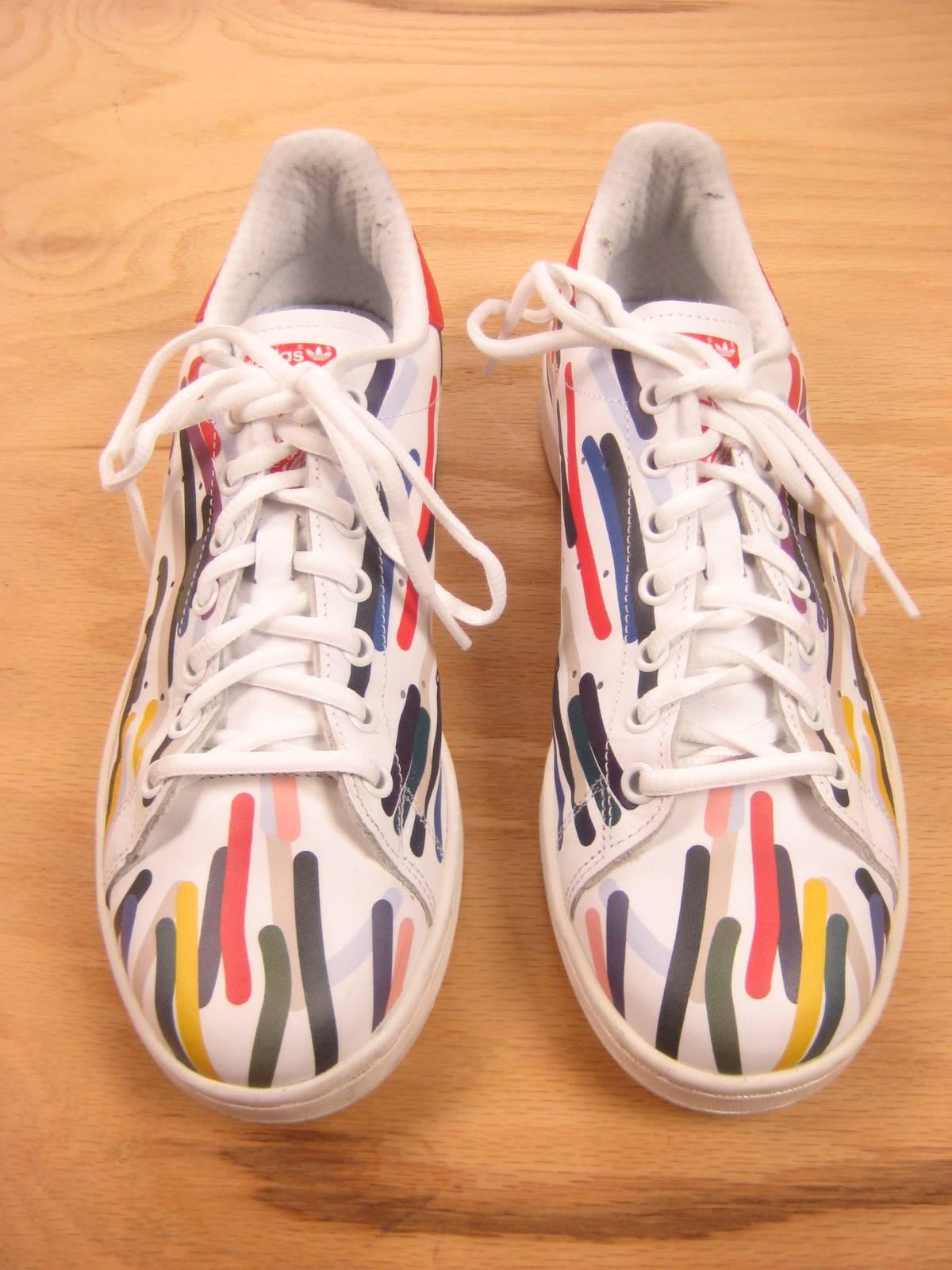 best website ec0d0 2239b Adidas Stan Smith Multi Color Low Top Sneakers 9 Size 9 $64