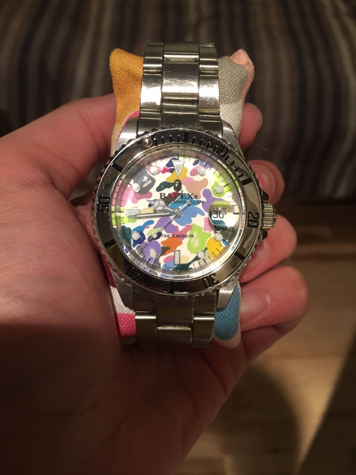 Bape Bapex Bape X Rolex Collab Watch Multicolor Size One Size 600
