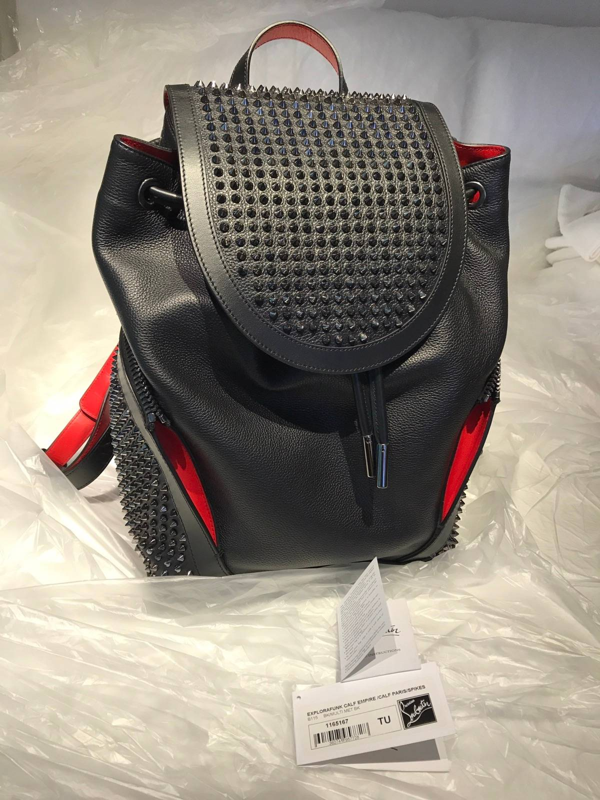 a8c33eeecb5 Christian Louboutin Christian Louboutin Unisex Explorafunk Empire Backpack  Black 1165167 B115 Size One Size $775