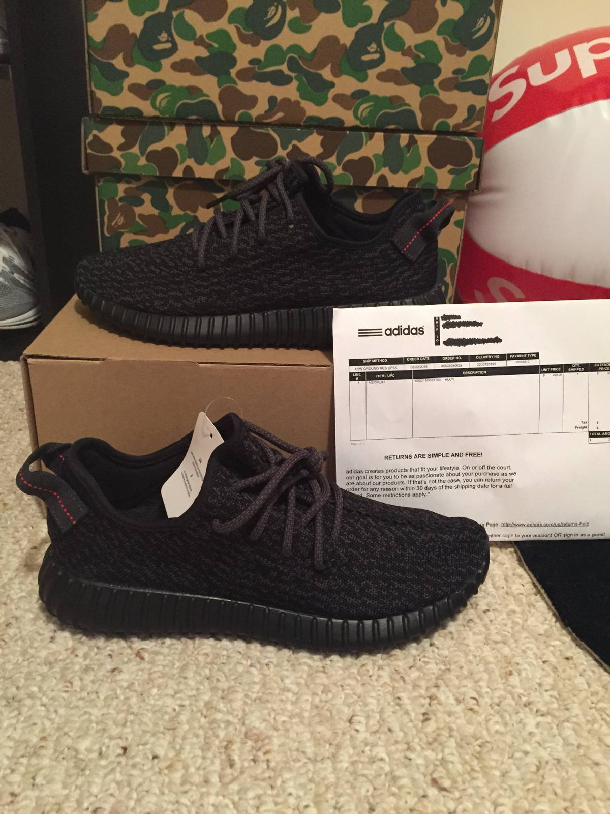 31061dfd7 Yeezy Boost Pirate Black Yeezy Boost 350 Size 9.5 - for Sale - Grailed