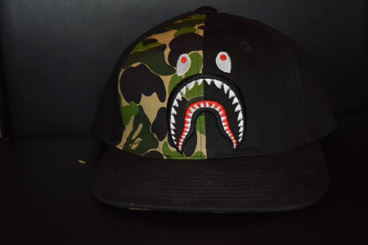 608e1c1c31ed Bape ABC Shark Snapback Size one size - Hats for Sale - Grailed