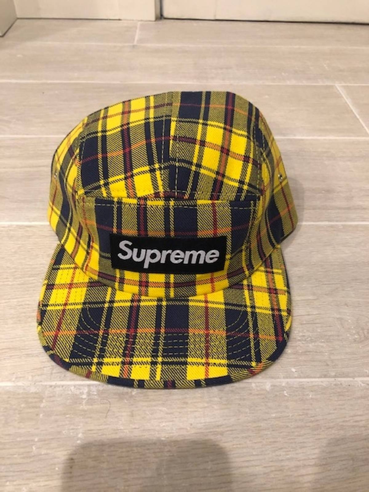 Supreme Supreme Plaid Hat Yellow Blue   Red NEVER WORN Size one size - Hats  for Sale - Grailed 76f5f761edd