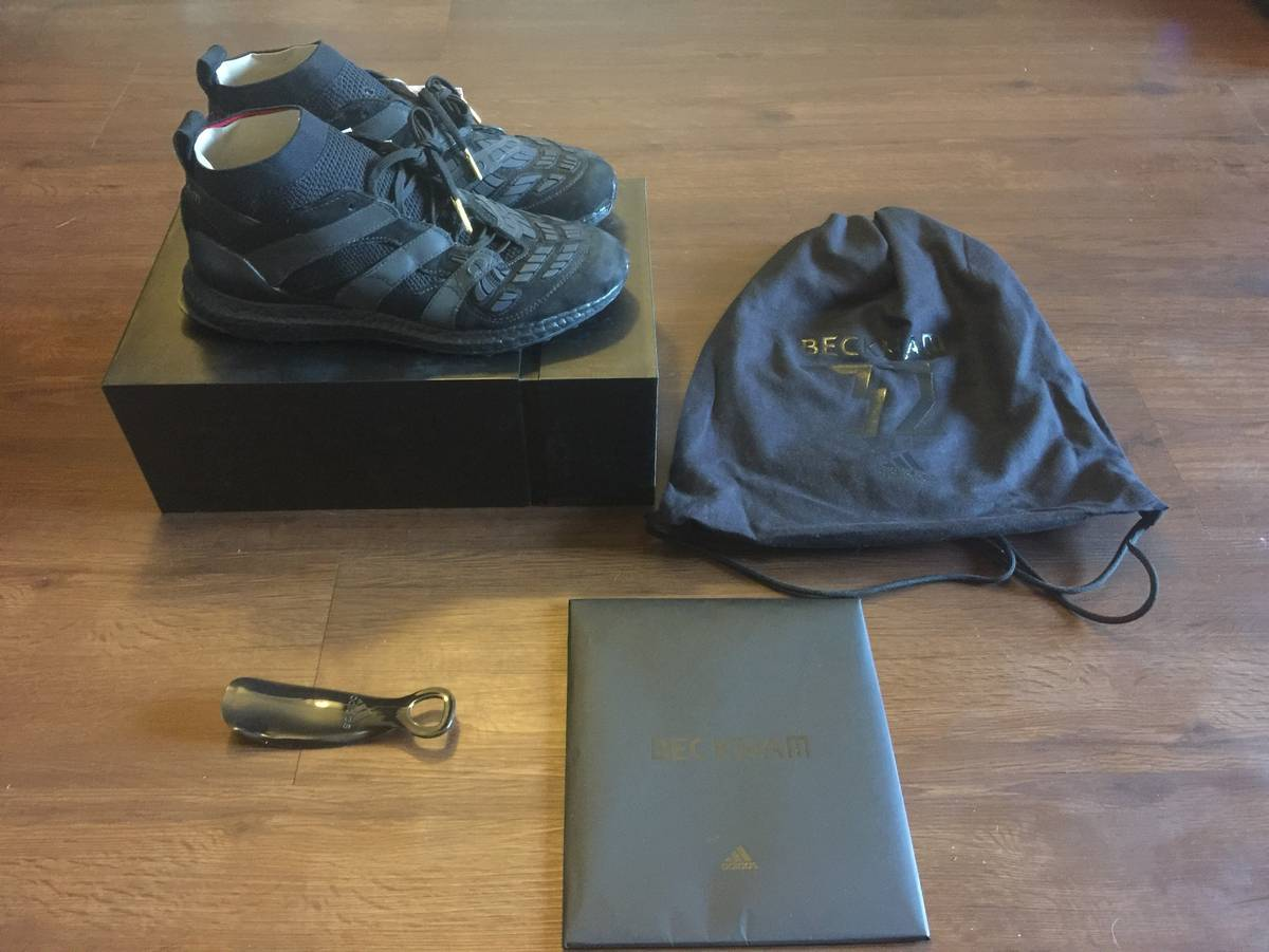 info for 57a7b 439a7 Adidas Adidas David Beckham Accelerator Ultra Boost Sz 9.5 Triple Black  AP9870 Size 9.5 - Low-Top Sneakers for Sale - Grailed