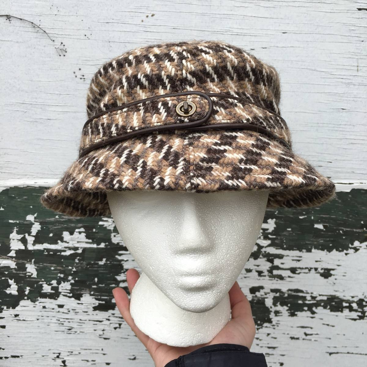 Coach Womens Coach Bucket Hat Size Small Brown Wool Size one size ... 9eb125ba6f3