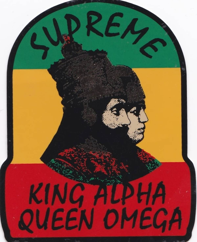 Supreme x supreme rasta sticker