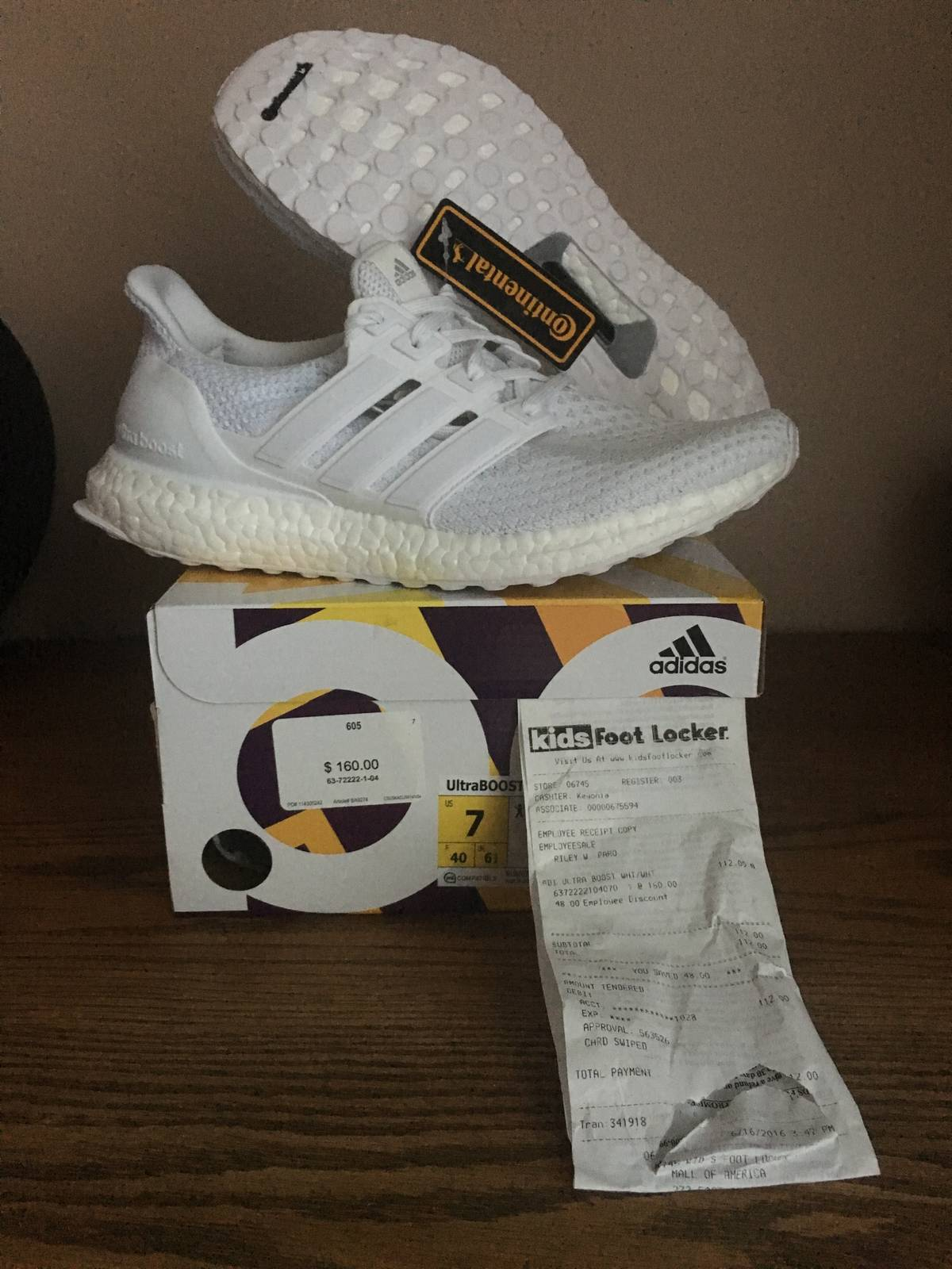 Adidas Adidas Ultra Boost J S80588 All Triple White Junior GS Kids Women 533328f0ba