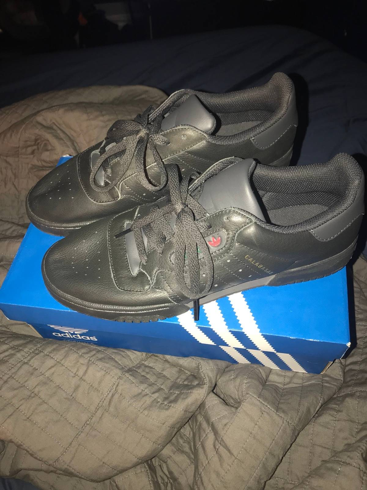 Adidas Yeezy Powerphase Calabasas Black Size 9 Og All Vnds Size 9 $76