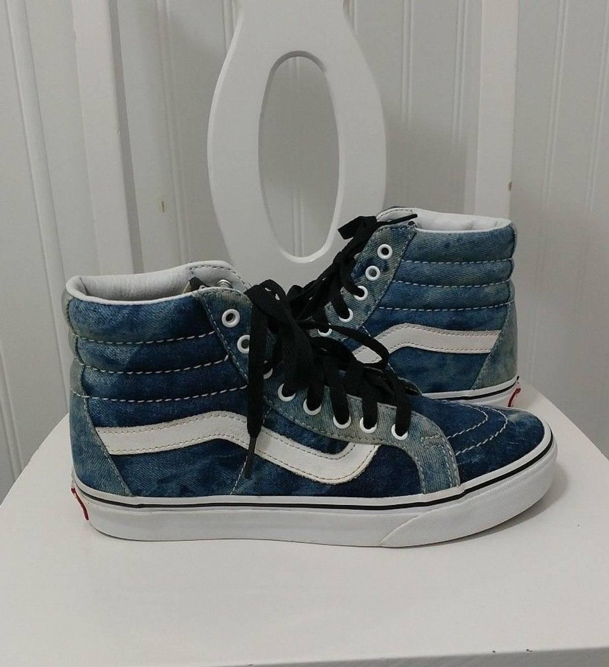 214d76120c Vans Vans Sk8 Hi Skate Shoes Acid Denim High Top Us Mens 11.5