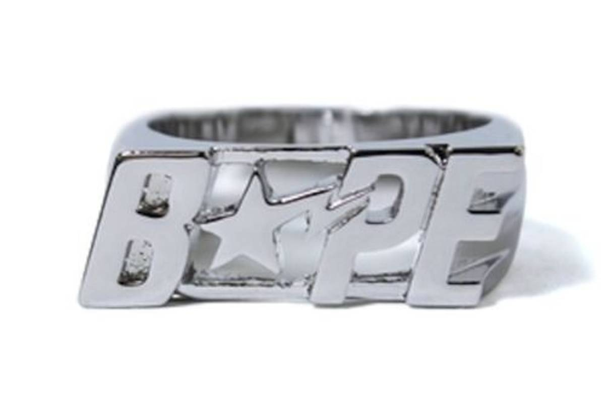 b994e8f152bc Bape A Bathing Ape Bape Sta Ring Silver M Size one size - Jewelry   Watches  for Sale - Grailed