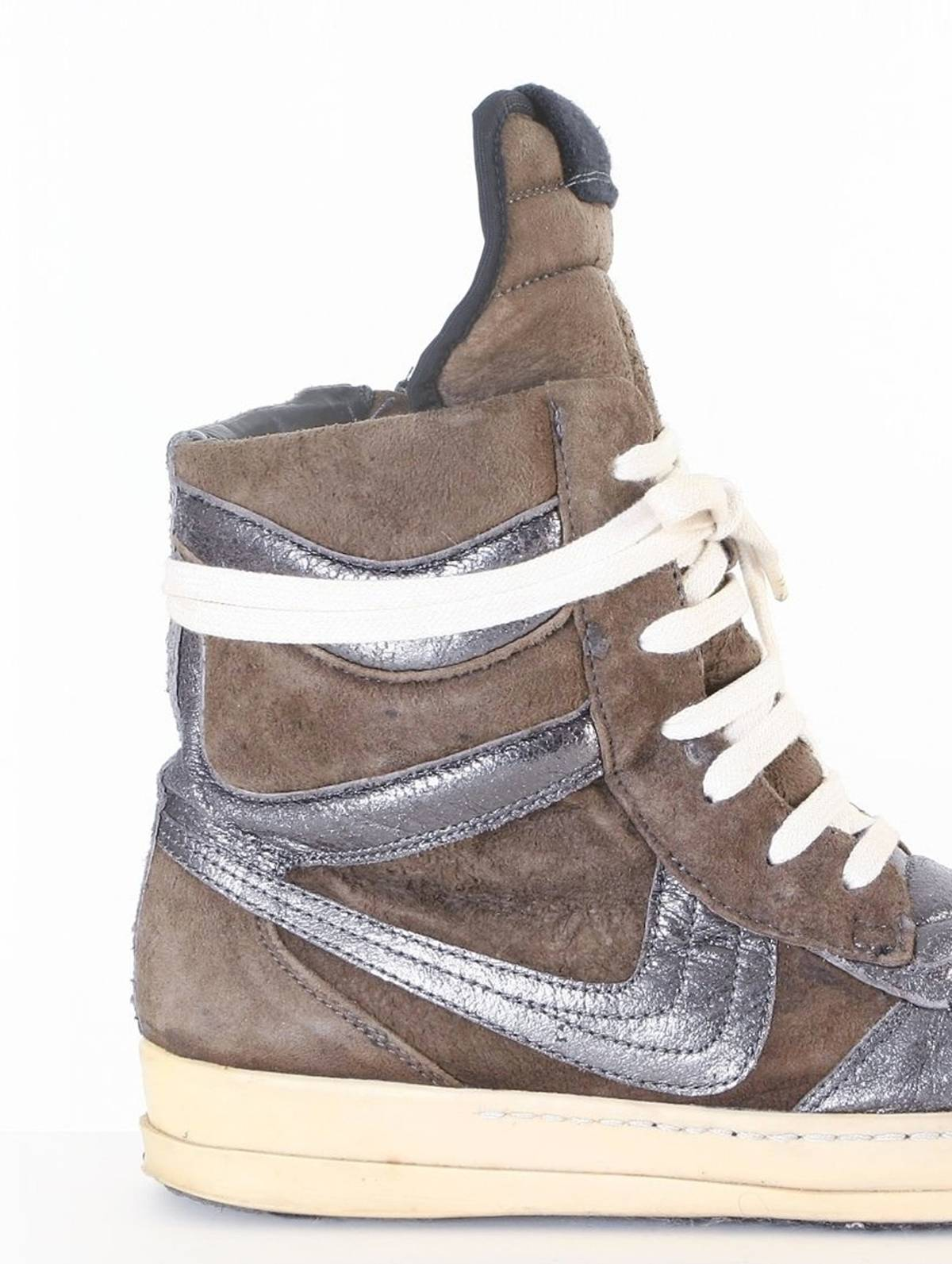 e5daa847a89171 Rick Owens rare RICK OWENS OG Dunks brown suede leather high top sneaker  shoes EU38 US8 UK5 Size 6 - Hi-Top Sneakers for Sale - Grailed