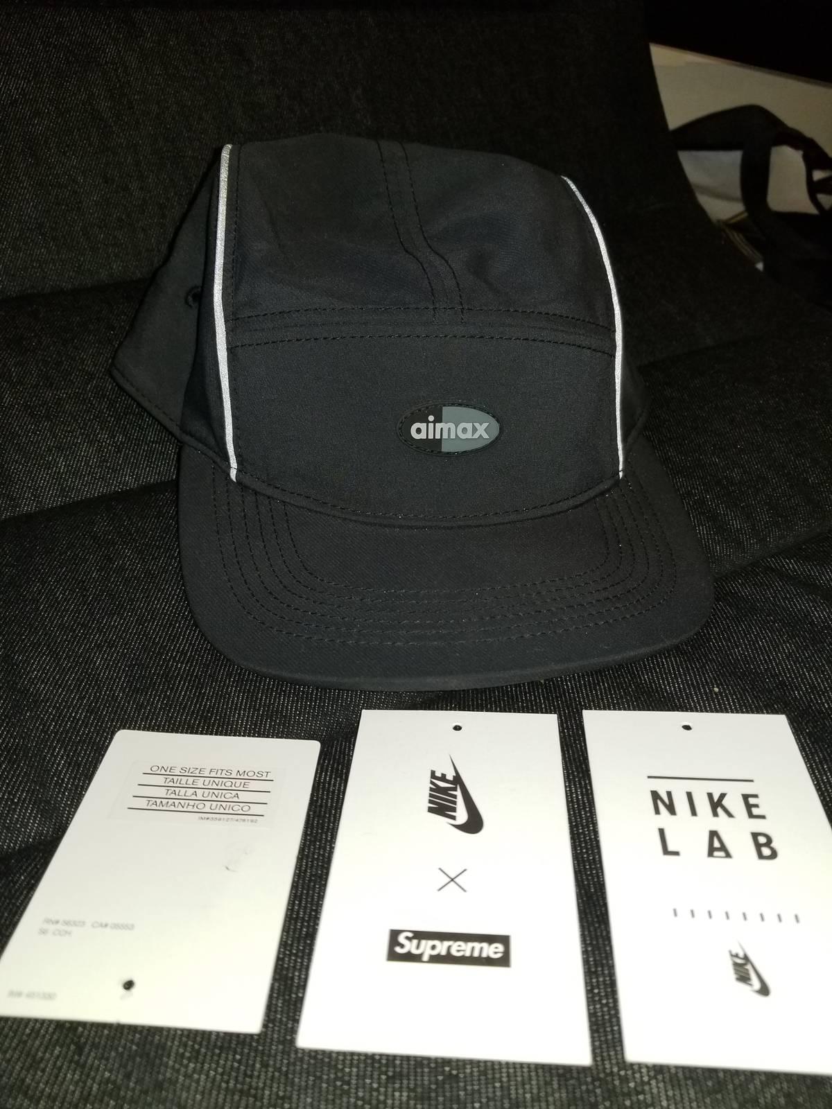 b215b38f Supreme × Nike ×. Supreme X Nike Air Max Running Hat in Black. Size: ONE  SIZE