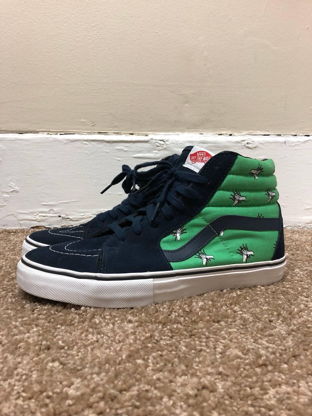 eb945121b9f07b Supreme Supreme Vans Flies Sk8 Hi Navy Green Size 9 - Hi-Top Sneakers for  Sale - Grailed