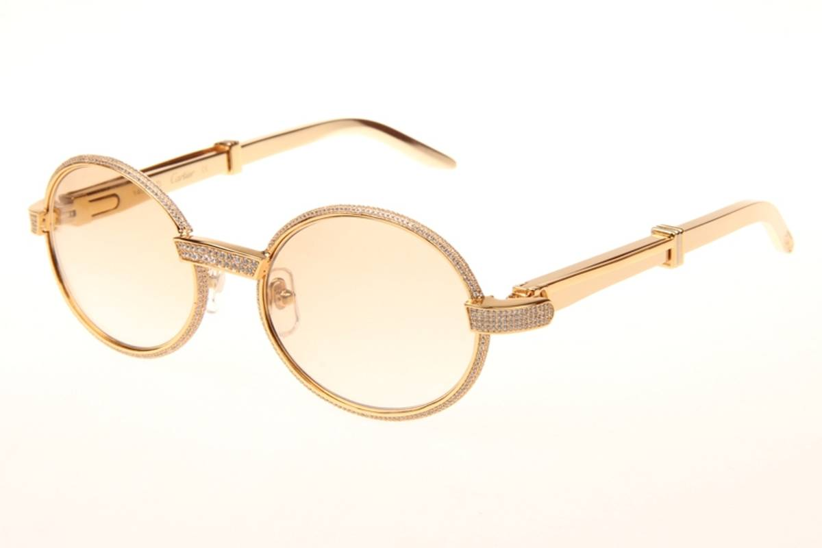 e82f7c809c No brand cartier gold diamond stainless steel sunglasses size one size  sunglasses for sale grailed jpg