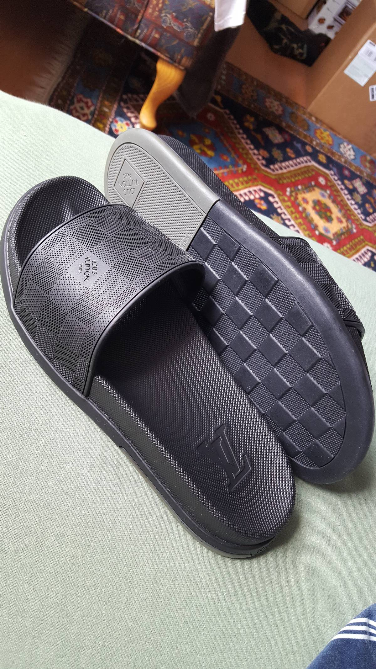 cb35b0b6460a Louis Vuitton. Louis Vuitton Damier Sandals  Flip Flops WaterFront Mule