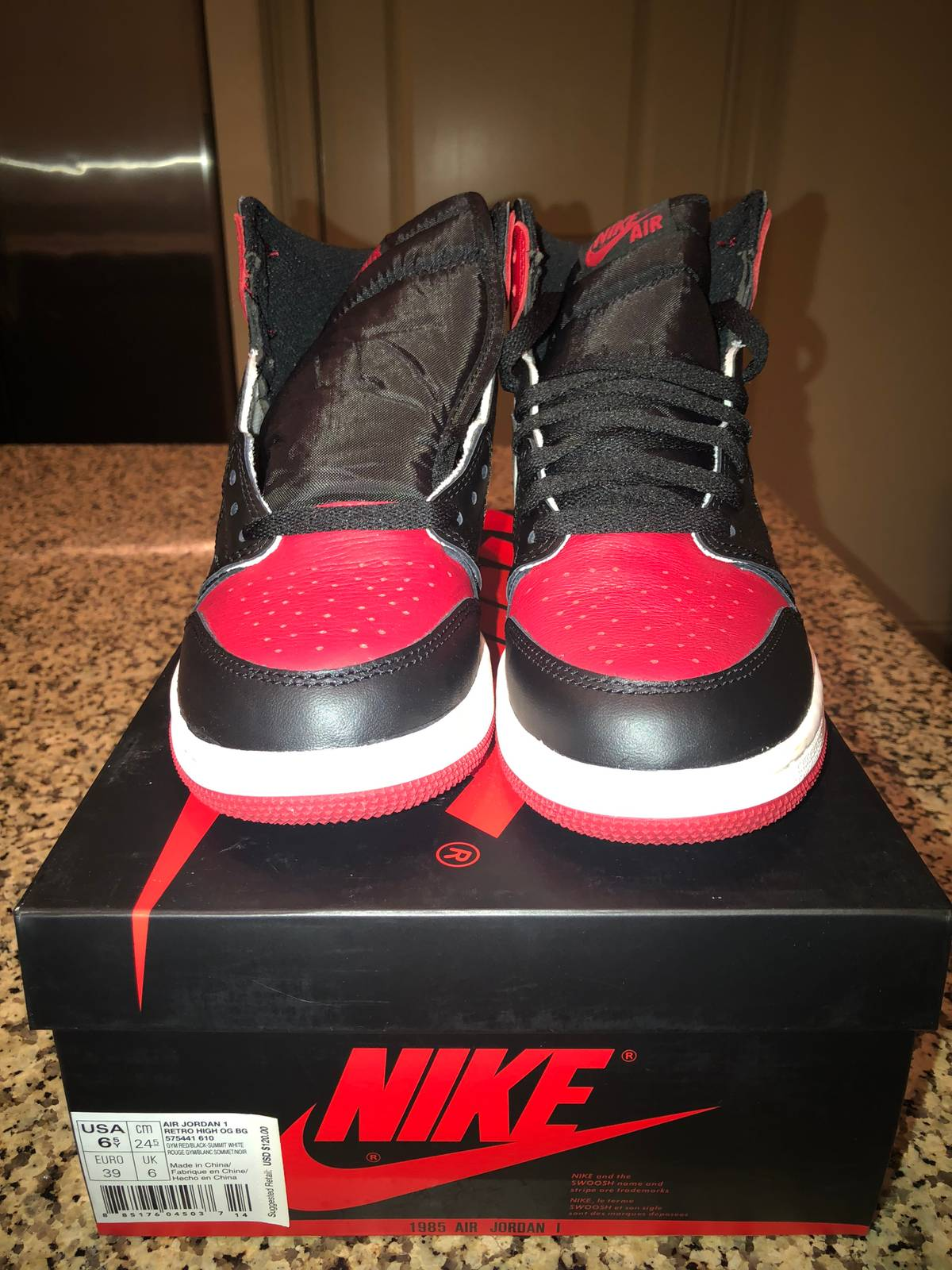 hot sale online 1b95a 5fcb5 Jordan Brand. Air Jordan 1 High OG Bred Toe 555088-610