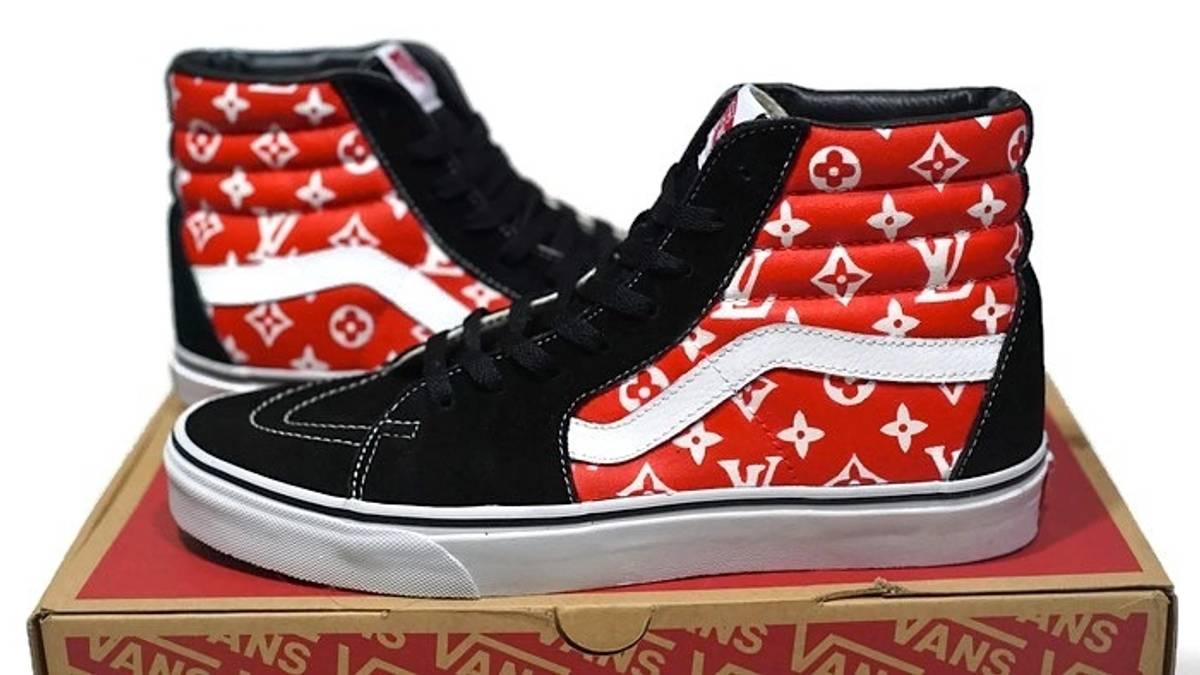 172d131b421 Custom LOUIS VUITTON VANS SK8 HI CUSTOM Size 9.5 - Hi-Top Sneakers for Sale  - Grailed